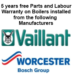 Worcester Bosch and Vaillant Boilers Warranty